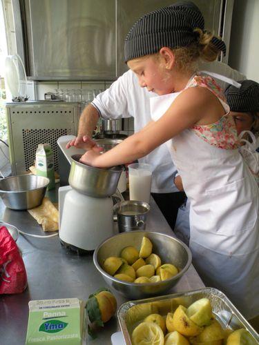 making gelato